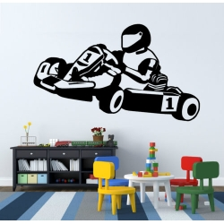 PEGATINA DECORACION KARTING 57CM - 33CM