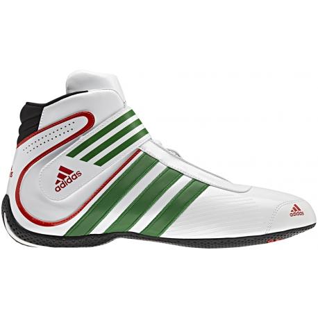 Alérgico Sedante Sin aliento  adidas-xlt-karting-boot-white-green