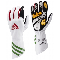 ADIDAS XLT KARTING GLOVES WHITE-GREEN