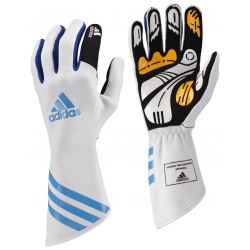 ADIDAS XLT KARTING GLOVES WHITE-BLUE