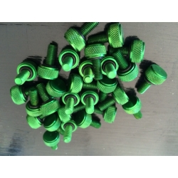 Set 12 x Bead lock screws green