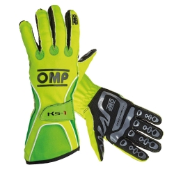 OMP KS1 GLOVES YELLOW / GREEN FLUO