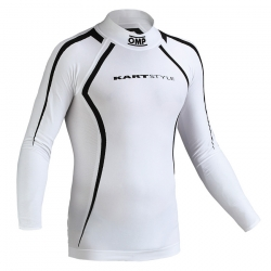 OMP RACING UNDERWEAR WHITE LONG SLEEVE