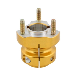 REAR HUB D50 X 65MM GOLD ALUMINIUM