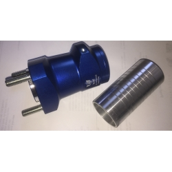 REAR HUB D50X75 MM BLUE