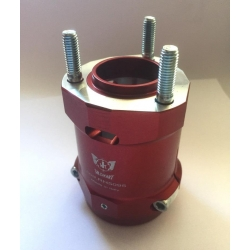 REAR HUB D50 X 75 MM RED ALUMINIUM