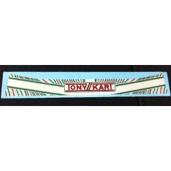VISOR STICKER TONY KART
