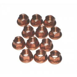 COPPER WHEEL NUT M8