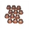 12 X COPPER WHEEL NUTS M8