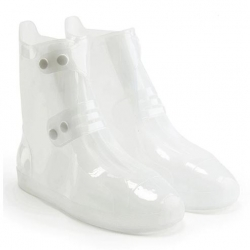 WATERPROOF OVERBOOT FOR RAIN WHITE