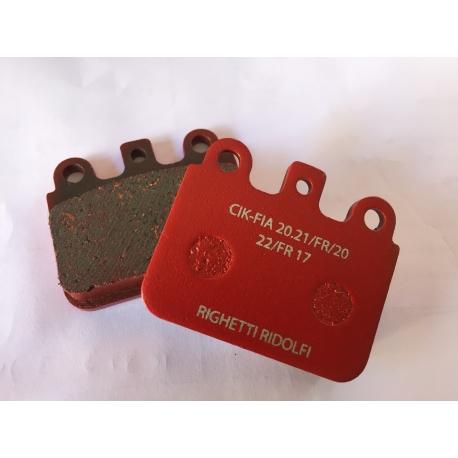 Set brake pads red VEN05
