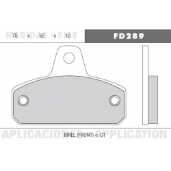 PAIR FRONT BRAKE PADS BIREL UNTIL 2001