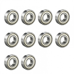 10 X STUBAXLE BEARINGS  608Z - M8 bolt x 22 mm Ext.