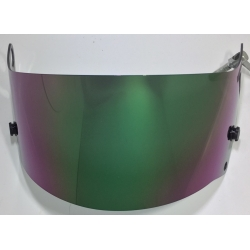 VISOR FOR ARAI GREEN MIRROR IRIDIUM