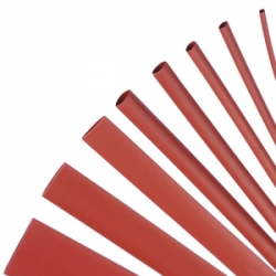 HEAT SHRINK TUBING RED 0.5 MTR