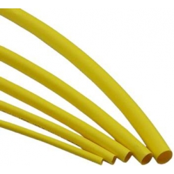 HEAT SHRINK TUBING YELLOW 0.5 MTR
