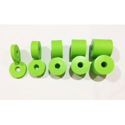 A PAIR X WASHER SPACER NYLON M8 - GREEN