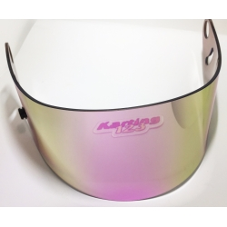 VISOR FOR ARAI GP6 - SK6 PINK MIRROR IRIDIUM SEMI CLEAR