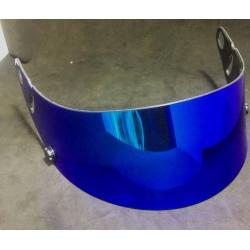 VISOR FOR ARAI GP5 - SK5 BLUE IRIDIUM MIRROR