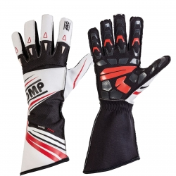 OMP GLOVES KS-2R WHITE-BLACK