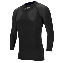 ALPINESTAR RACING TSHIRT LONG SLEEVE UNDERWEAR BLACK KX