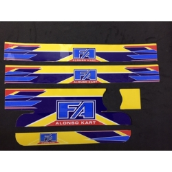 STICKER RADIATOR IAME X30 MEDIUM SIZE FA ALONSO