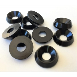 COUNTERSUNK  WASHER BLACK M6 X 20MM